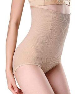 Sixyotie Femme Culotte Gaine Amincissante Ventre Plat Body Shaper Invisible Taille Haute Panty Culottes sculptantes (Beige, Tag XL / 2XL (taille 26 «-31»))
