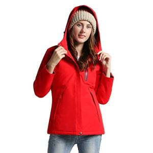Women Waterproof Coat Solid Rain Jacket Outdoor Jackets Hooded Raincoat Windproof Warm Drawstring Zipper Long Windbreaker Multi De Mode ImperméAble De Veste De Chauffage éLectronique USB