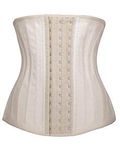 YIANNA Femme Corset Serré Latex Ceinture Minceur Bustiers Fitness Waist Trainer,UK- YA1210-Skin-M