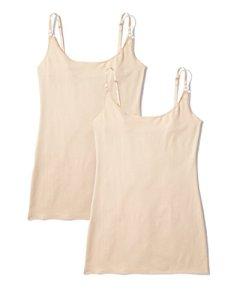 Iris & Lilly Body Vest, Pack of 2 Maillot De Corps, Beige (Classic Nude), XXL, Lot de 2