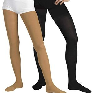 23-32 mmHg Collants de Compression à Bout Fermé, Classe 2 Médicale, Collant de Contention Unisexe avec Embout (M, 170-182 cm, Beige)