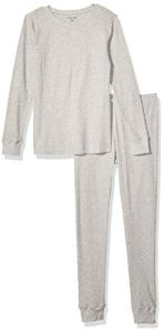 Amazon Essentials Thermal Long Underwear Set, Gris, US S (EU S – M) S (EU S-M)
