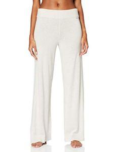 Calvin Klein Sleep Pant Bas Thermique, Beige (Whim Heather WFU), 40 (Taille Fabricant: Medium) Femme