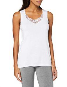 Damart Débardeur Fine Cote Thermolactyl Degré 3, Haut Thermique Femme, Blanc (Blanc), 42 (Taille Fabricant: M)