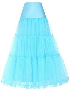 GRACE KARIN Retro Jupon 1950s Rockabilly Crinoline Petticoat Robe de Mariee Tutu Ballet Violet M CL421-10