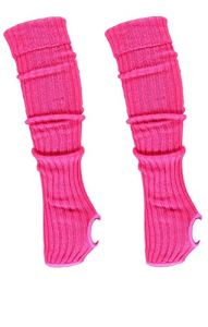 Krautwear® – Jambières pour femme – Avec trou pour le talon – Pour les jambes – Environ 55 cm – Années 80 – Noir / blanc / rose flash / vert / jaune / orange – – Taille Unique