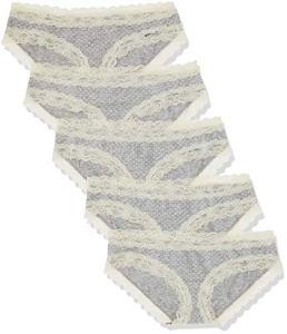 Marque Amazon – Iris & Lilly Belk014_m5 Culotte, Gris (Melange Print), 3XL, Lot de 5
