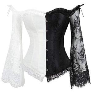 NooobTerrm Corset Steampunk Gothic Corset pour fête Carnaval Halloween Cosplay – – XXL