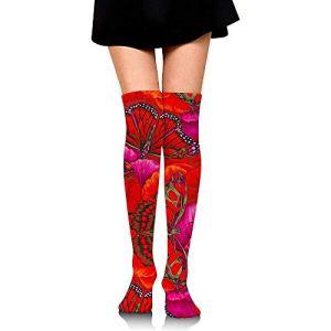 NotApplicable Calf Sock Hiver Cerf Cosplay Longues Chaussettes Femmes Boot Stocking Chaussettes De Compression Courir Coloré Genou Chaussettes Hautes Robe Casual Mode Confortable Parti Doux