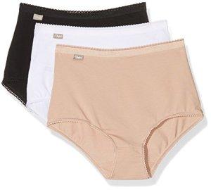 Playtex 00bq, Culotte Femme, LOT de 3, Multicolore (Blanc/Beige/Noir), FR: 42 (Taille Fabricant: 42)