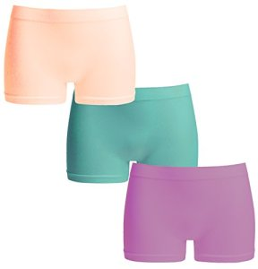 UnsichtBra Femme Basics Lot de 3 Boxer Shorties (Rose,Bleu,Mauve, XL-2XL)