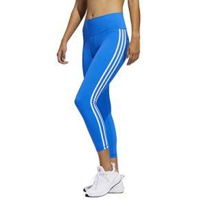 adidas Believe This Collants de longueur 7/8 3 bandes, Femme, Collants, Believe This 3-Stripes 7/8 Length Tights, Bleu/blanc., X-Large