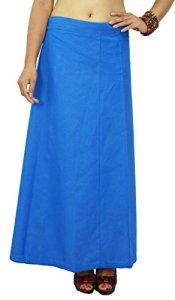 Bollywood coton solide Petticoat Jupon de Doublure indienne Pour Sari