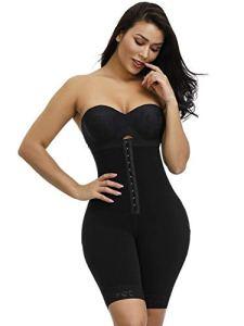 3°Amy Lingerie Sculptante Bodys Femmes Pleine Combinés Amincissants Underbust Minceur mi Cuisse Shaper Tummy Contrôle continu Postpartum Corps Ceinturon #a (Color : Black, Size : L)