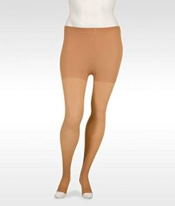 Juzo Basic Pantyhose 20-30mmHg Open Toe, II, beige