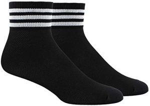 adidas Originals Chaussettes en maille rayée pour femme, Femme, 976728, noir/blanc, Size 5-10