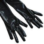 iiniim Femmes Lingerie Cuir Combinaison Pantalons Entrejambe Ouvert Costume de Nuit Noir A XL