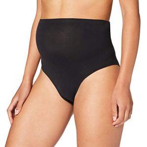 Mamalicious MLHEAL ORG.Cotton Panties 2PACK O. A. sous-vêtements, Noir/Pack : Noir, M-L Femme