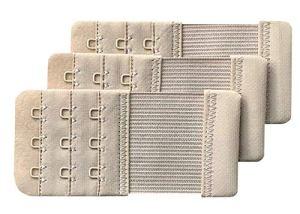 Chanie Femme Lot de 3 Doux Confortables Extensions de soutien-gorge 3 Crochets, 10cm x 4,7cm