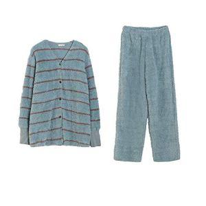 YAzNdom Pyjama De Dames Mme Bouton vers Le Bas Reste l'anniversaire Pyjama Manches Longues A Épousé Le Choix De Cadeau Parfait Pajamas Set De Dames (Color : Green, Size : 155)