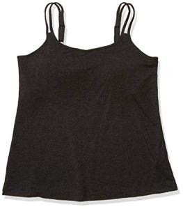 Amoena Women's Valetta Pocketed Camisole W/Built in Shelf Bra Charcoal Melange, Mélange