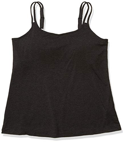 Amoena Women's Valetta Pocketed Camisole W/Built in Shelf Bra Charcoal Melange, Mélange