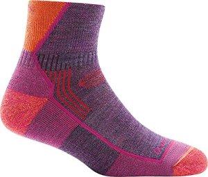 Darn Tough Hiker 1/4 Cushion Sock – Women's Plum Heather Medium