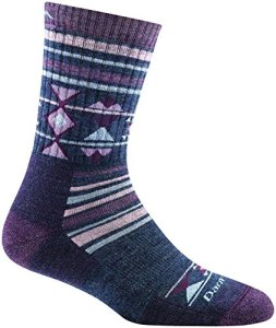 Darn Tough Nobo Micro Crew Cushion Sock – Women's Purple Small