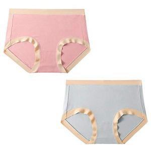 EGFMHH Slip Femme Respirant Confortable 91% Coton Et 9% Élasthanne Spandex Grande Taille Ne Se Décolore Pas Taille Moyenne(Lot De 2) (Size : Medium)
