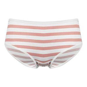 FEESHOW Sous-vêtements de bikini en coton à rayures pour femme Style japonais – – Taille Unique