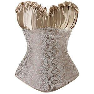 Femme Taille Haute Jupe Sculptante Amincissante Ventre Plat Body Shapewear Skirt Golden6XL