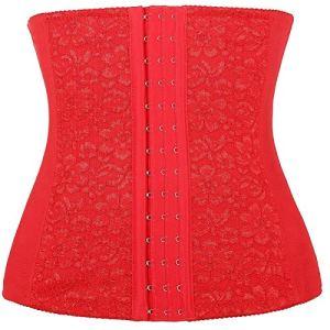 Femme Taille Haute Jupe Sculptante Amincissante Ventre Plat Body Shapewear Skirt redXXXXL