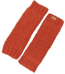 Guru-Shop Jambières en laine avec motif perlé, unisexe, taille unique, chaussettes et jambières – Orange – One Size