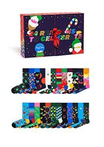 Happy Socks Advent Calendar Chaussettes, Multi, 3-7 (36-40) Mixte