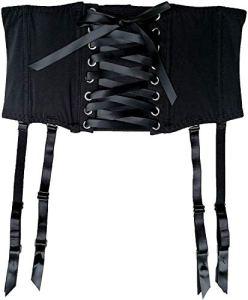 JFS Noir Taille Formation Bretelles Amovibles Sexy Porte-Jarretelles pour Bas