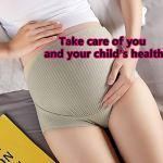 KAIWM Lot de 5 sous-Vêtements de Maternité sans Couture pour Femmes, Culotte de Grossesse Taille Haute Super Doux 360 ° Encerclant l'abdomen, Antibactérien Très Efficace, Respirant Et Confortable