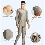 Kisshg Vêtements Anti-radiations, Protection Contre Les rayonnements électromagnétiques 100% sous-vêtements Longs en Fibre d'argent Blindage EMF sous-vêtements(y Compris Les Pantalons),3XL