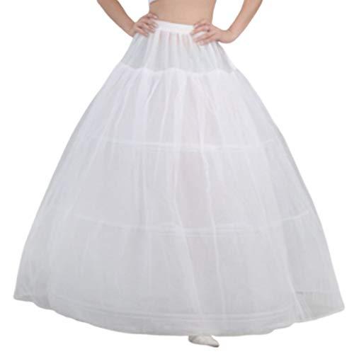 MYhoseBride Robe De Mariée De Mariée Soutien Jupon 3 Cerceaux 1-Couche Fil Jupe Femmes Costume Jupes Doublure Doublure