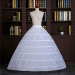 MYhoseWedding Robe Jupe Soutien Costume Jupon Glissement Grand 6-Hoops Jupons sans Fil pour Les Femmes de mariée