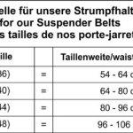 Pariser-Mode SG3420-4 – Porte-Jarretelles 4 Jarretelles – Taille L – Noir