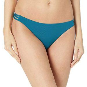 Roxy Bas de bikini uni pour femme – bleu – Taille L