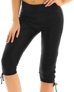 Shorts De Bain Des Femmes Natation Short Shorts Natation Mode Chic Short Femmes Maillot De Bain Maillot De Bain Leggings Genou Longueur 3/4Beine Sml Xl 2Tg 3Tg ( Color : Schwarz , One Size : XL )