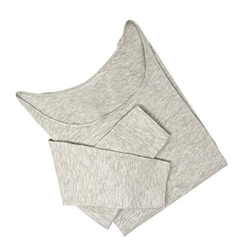 Tee-Shirt Seconde Peau apaisant – Manches Longues – Femme – Coton/Argent antibactérien – Made in France (L, Gris chiné)