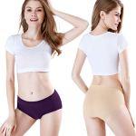 wirarpa Culottes Femmes Coton Midi Slip Boxer Shorty sous Vetement Caleçon Lot de 4 Taille 4XL