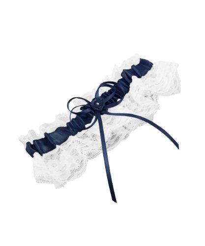 Wedding Star Jarretière 0.75 x 2.75 x 6.50 inches bleu marine
