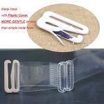 Bretelles invisibles transparente pour soutien-gorge, crochet en métal avec housse en plastique, 0,9cm, 1,6cm, 1,9cm – – Large