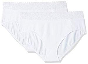 Dim Coton Plus Stretch Féminine – Slip Maxi – Lot de 2 – Femme – Blanc, 40/42 FR ; 38/40 EU