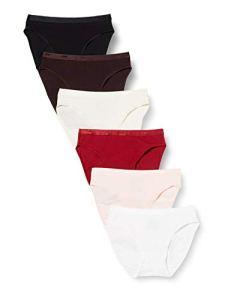 Dim Slip Les Pockets Coton ECODIM x6 Lingerie, lot Mode Rouge, 36/38 Femme