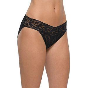 Hanky Panky Women's Vikini Panty, Black, X-Large