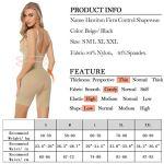 Hawiton Femme Gaine Amincissante Body Gainant Ventre Plat Lingerie Gainante Minceur Combinaisons Sculptantes Noir M/Tour de Taille:67-73cm, Poids:50-60kg